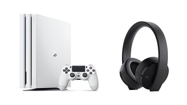 PS4Pro グレイシャーホワイト ワイヤレスサラウンドヘッドセット Amazon 予約に関連した画像-01