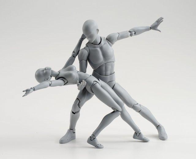 絵師 フィギュア ボディくん ボディちゃん 可動 刀 銃 装備 ポーズに関連した画像-03