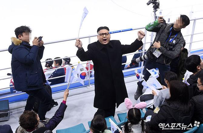 金正恩 ものまね芸人 北朝鮮 応援団 突撃に関連した画像-06
