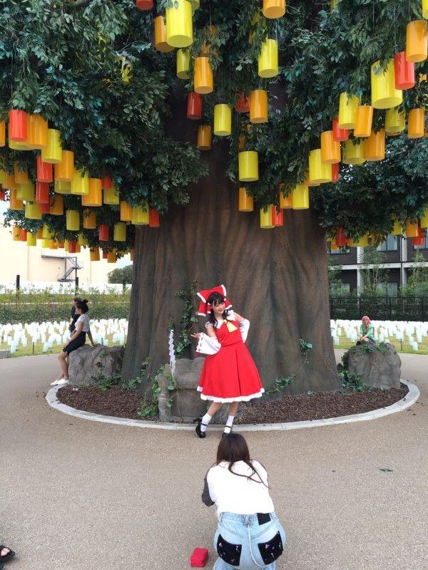 上坂すみれ コスプレ 東方Project 博麗霊夢 世界コスプレサミットに関連した画像-04