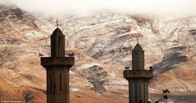 サハラ砂漠 雪 降雪 幻想風景に関連した画像-05
