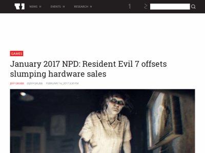 バイオハザード7 バイオ7 売上 PS4に関連した画像-02