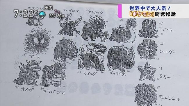 ポケモン ポケットモンスター 開発 初期 資料 テレビ 初公開に関連した画像-04