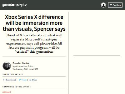XboxSX フィルスペンサー マイクロソフト ビジュアル 没入感に関連した画像-02