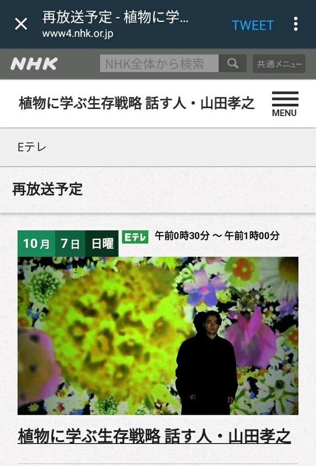 NHK Eテレ 植物に学ぶ生存戦略 山田孝之 胸毛 ヘクソカズラに関連した画像-10