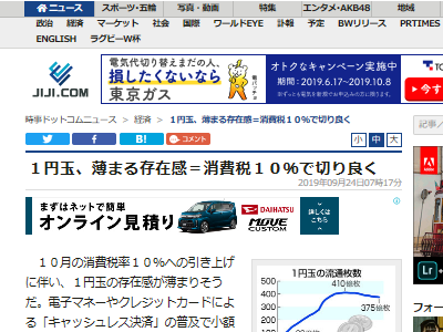 1円玉 消費税 存在感 キャッシュレスに関連した画像-02