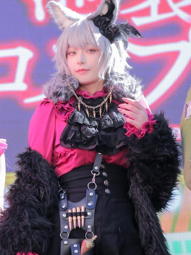 宇垣美里 コスプレ ハロウィン ケモミミ 銀髪に関連した画像-03