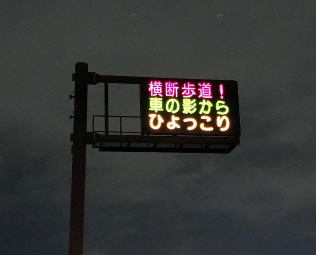 熊本県警 交通安全 大迫半端ないって 流行 電光掲示板に関連した画像-04