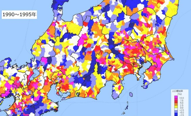 人口 密度 増加率 マップ 地図 過疎に関連した画像-01