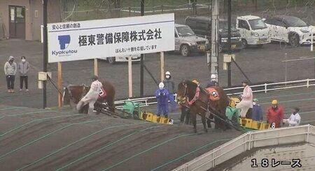 【酷い】ばんえい競馬で、騎手が馬の顔蹴る動画が拡散され物議に 馬がかわいそすぎる・・・(´;ω;`)