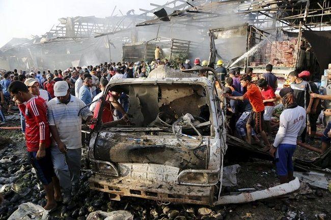 イラク バグダッド トラック 爆発 テロ イスラム国 ISに関連した画像-01
