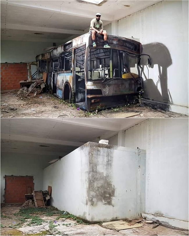だまし絵 トリックアート バスに関連した画像-02