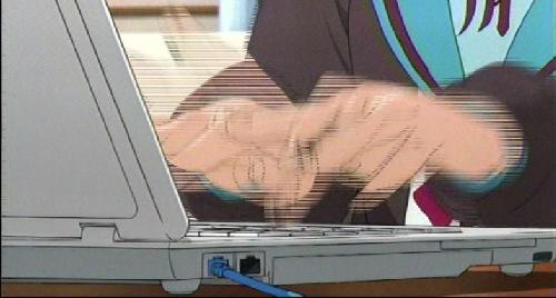 学生 若者 パソコン キーボード タイピング ローマ字に関連した画像-01