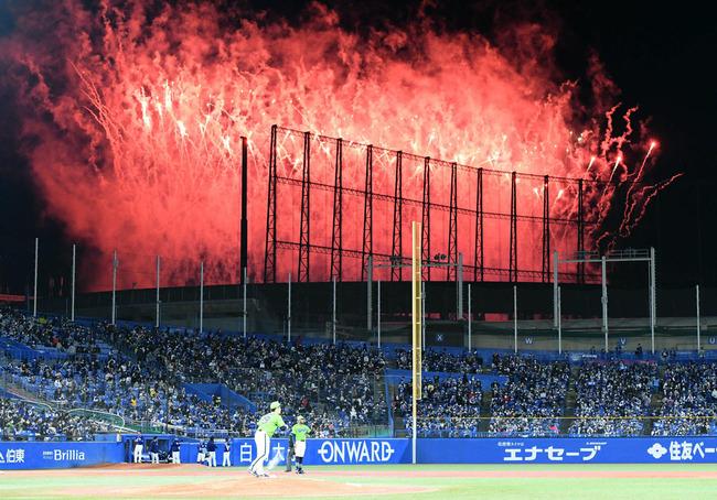嵐 ライブ 花火 プロ野球 ヤクルト対中日 中断に関連した画像-01