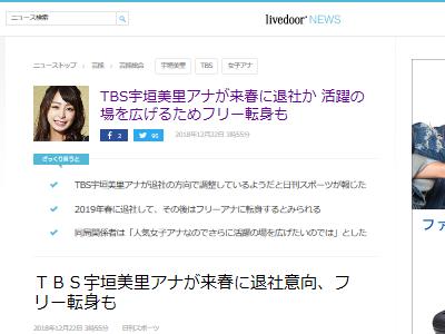 宇垣美里 アナウンサー TBS 退社に関連した画像-02