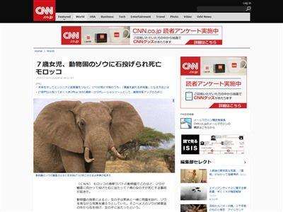 動物園 ゾウ 石 女児 死亡に関連した画像-02