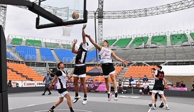 東京五輪 3人制 バスケ テスト大会 雨 会場 屋根 未完成 決勝 試合中止に関連した画像-01