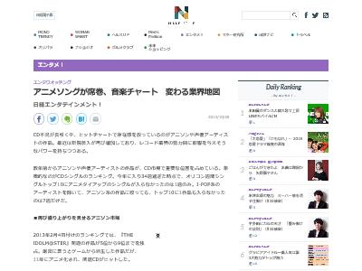アニメソング アニソン 音楽チャート 席巻 業界地図に関連した画像-02