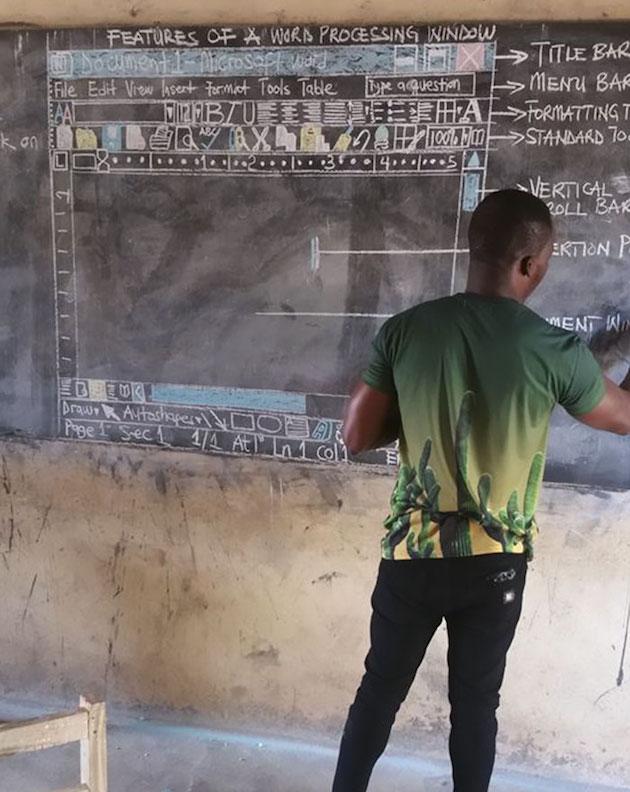 アフリカ 小学校 IT 授業 ガーナ に関連した画像-04