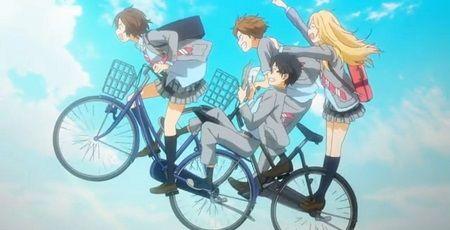 四月は君の嘘 BPO 二人乗り自転車に関連した画... 自転車で2人乗りするシーンを放映したアニ