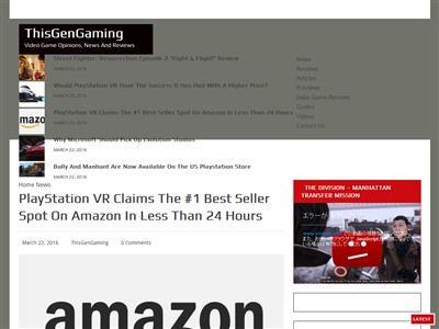 PSVR 米アマゾン 爆売れに関連した画像-02