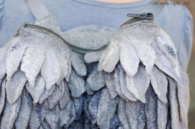 羽 バックパック 鳥の羽 リュックサック 鞄に関連した画像-05