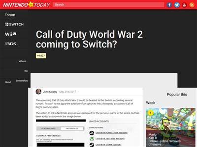 コールオブデューティ COD WW2 ニンテンドースイッチに関連した画像-02