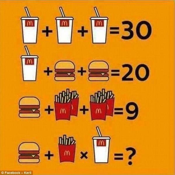 問題 難問98% シェイク ハンバーガー ポテトに関連した画像-03