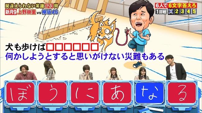 ネプリーグ 欅坂46 犬も歩けば棒に当たる 放送事故に関連した画像-02