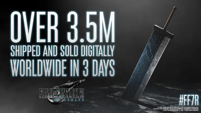 FF7R ファイナルファンタジー7 売上 3日 350万本 リメイクに関連した画像-02