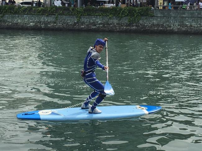 Fate ランサー クー・フーリン 兄貴 コスプレ 徳島 川 川渡り マチアソビに関連した画像-02