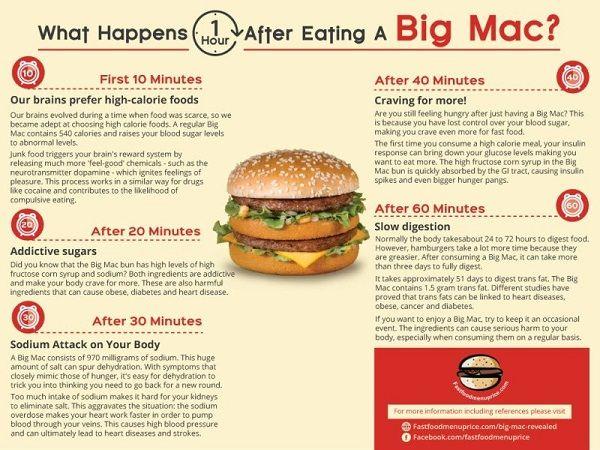 ビックマック ハンバーガー マクドナルド 消化 血糖値 健康 ファーストフード ジャンクフード ナトリウムに関連した画像-03