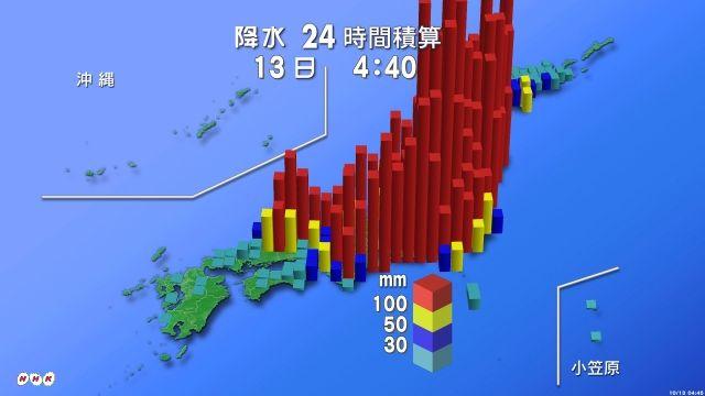 台風19号 年間降水量 4割に関連した画像-03