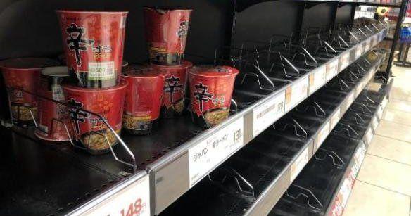 辛ラーメン 韓国 災害 非常食 買い込み 売れ残りに関連した画像-01