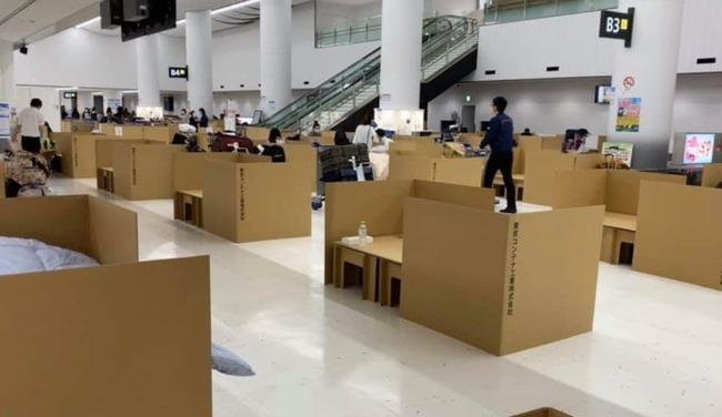成田空港 ダンボールベッド 新型コロナウイルスに関連した画像-01