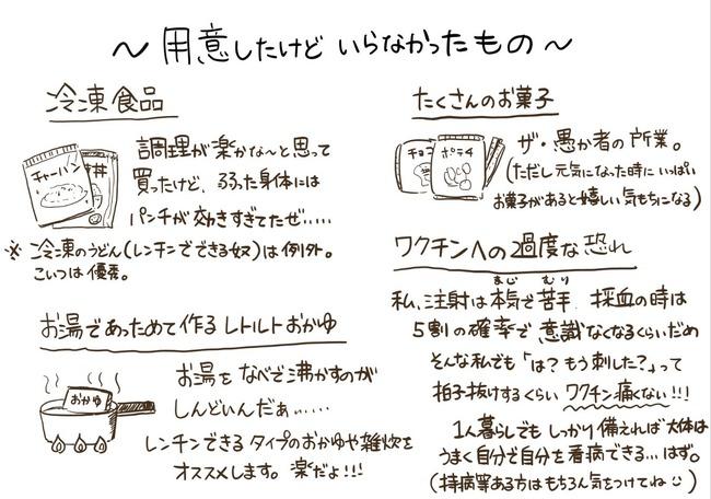 コロナ ワクチン 副反応 準備 用意 必要 リスト 冷えピタ 解毒剤 飲み物に関連した画像-03