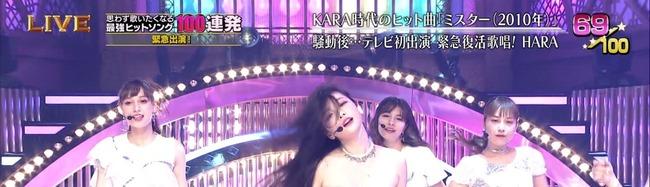 テレ東音楽祭2019 KARA HARA 放送事故 生放送 衣装に関連した画像-04