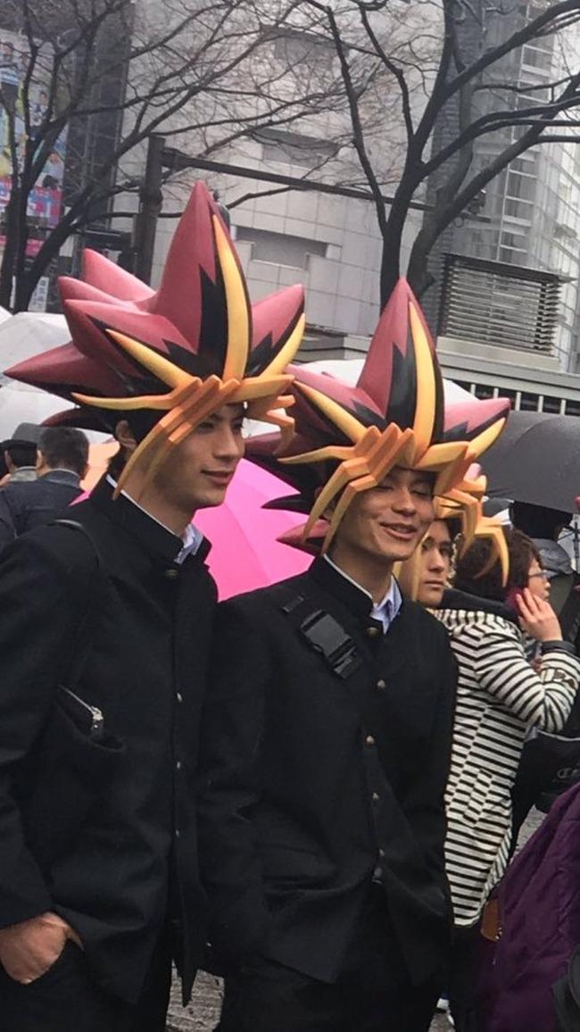 渋谷 街中 遊戯王 武藤遊戯 集団 CM に関連した画像-03