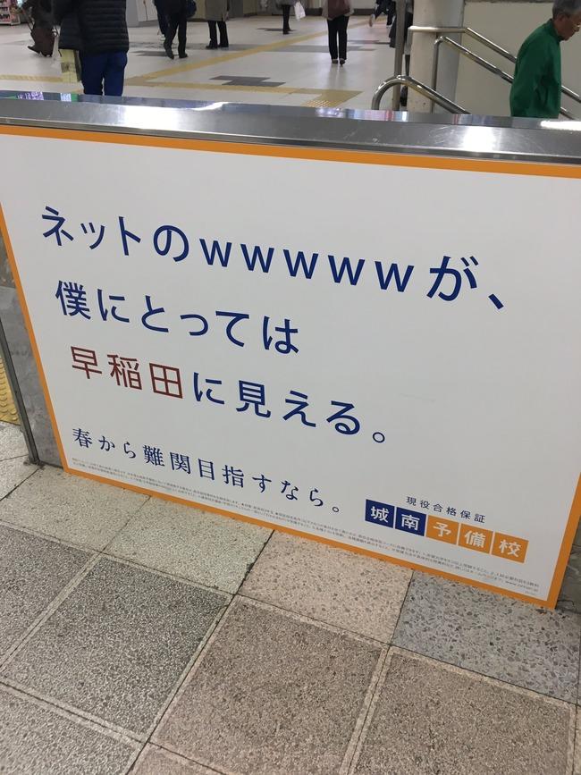 予備校 早稲田 wwww 草 城南予備校 広告に関連した画像-02