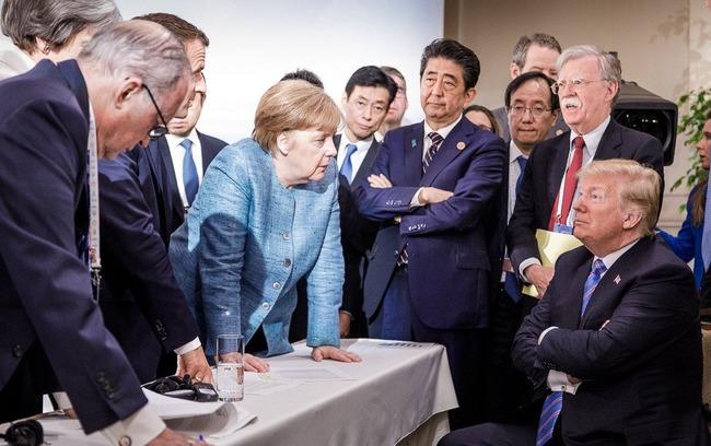G7サミット 先進国首脳会議 写真 安倍総理 トランプ大統領 メルケル首相 ルネサンス絵画 偶発的ルネサンスに関連した画像-02