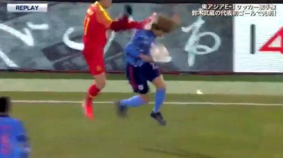 サッカー 反則 中国 カンフー 飛び蹴り 日本 イエローカードに関連した画像-06