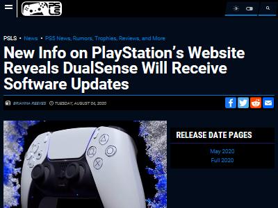 PS5 コントローラー デュアルセンス アップデートに関連した画像-02