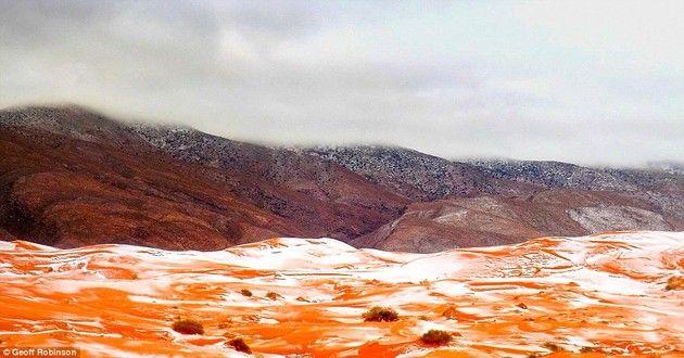 サハラ砂漠 雪 降雪 幻想風景に関連した画像-06