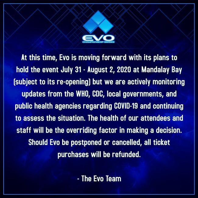 EVO 格闘ゲーム 新型コロナウイルス 中止 延期 返金に関連した画像-02