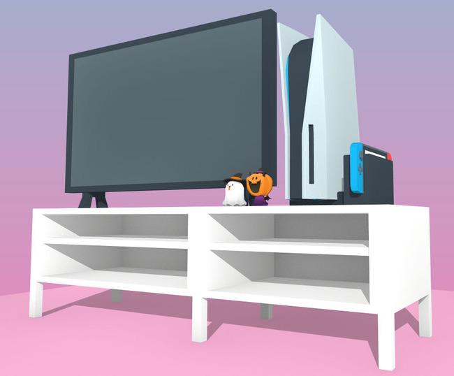 PS5 大きさ 比較 リビング テレビに関連した画像-04