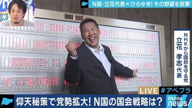 NHKから国民を守る党 N国 立花孝志 支持率に関連した画像-01