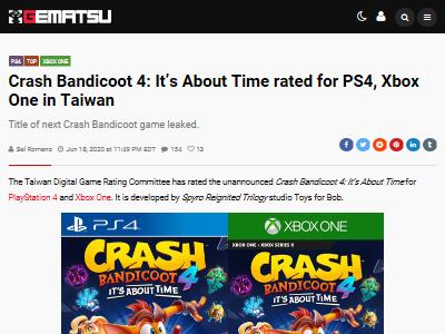 クラッシュ・バンディクー PS4 XboxOneに関連した画像-02