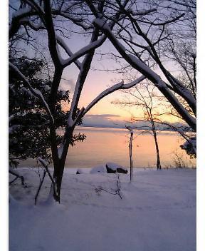 雪のびわ湖