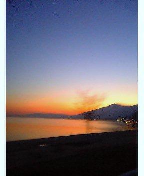 びわ湖の夕焼け