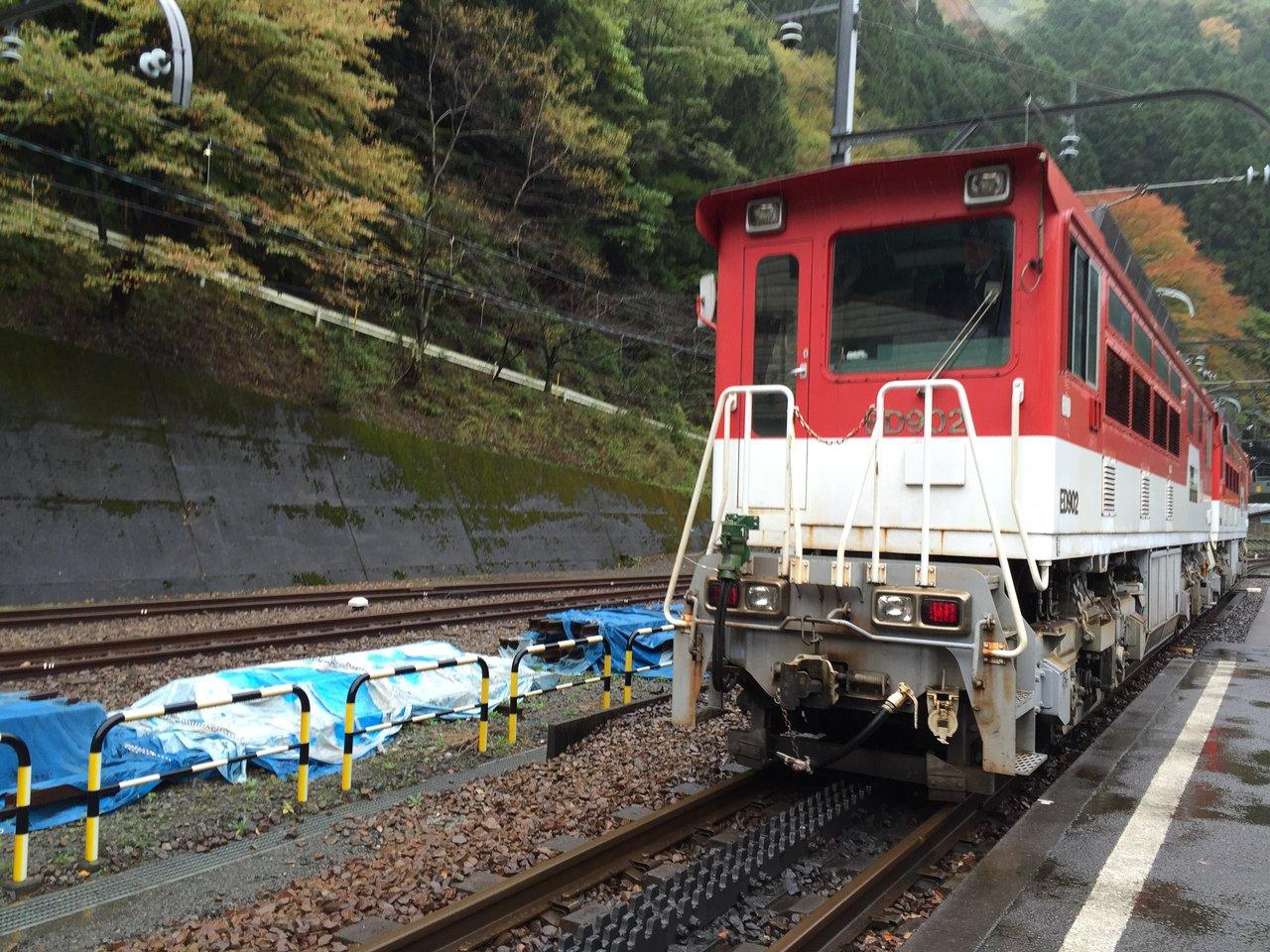 井川線アプト式区間、日本でここ...